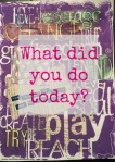 what did you do today blog post image