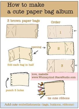 paper bag book tutorial